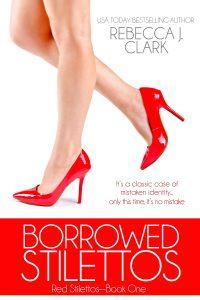 Borrowed Stilettos cover, lady in red stilettos